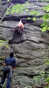 Rock Climbing Photo: cool move to the hollowish chunk. TOTALLY safe for...