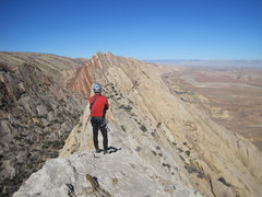 """Rock Climbing Photo: A distant view of the """"1000' of Fun"""" cli..."""