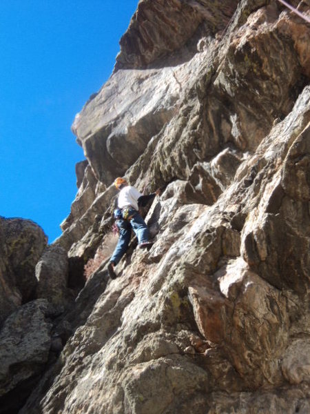 Rock Climbing Photo: The one advantage this climb has is that it gets s...