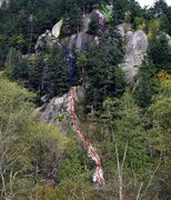 Rock Climbing Photo: Overview photo from the gravel road walking in sho...