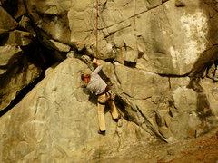 Rock Climbing Photo: Heather on Dream Theme (5.11)