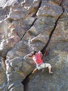 Rock Climbing Photo: Pulling through the crux on the Zig Zag Crack.