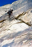 Rock Climbing Photo: Andy Hansen on the bolt ladder. Fall 2011. Taken w...