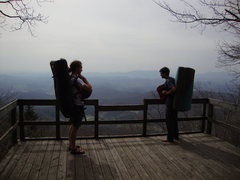 Rock Climbing Photo: Parlier and Conor at the lookout at the Overlook A...