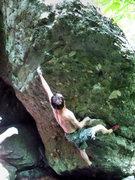 "Rock Climbing Photo: Travis ""The Legend"" Horne working Paladi..."