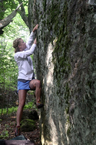 Ashley Parks on the Warm-Up Wall, Overlook Area