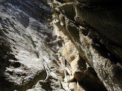 Rock Climbing Photo: A rest below the flake.
