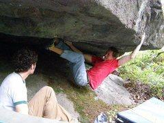 Rock Climbing Photo: Tyler using features on Surge, SLS Area
