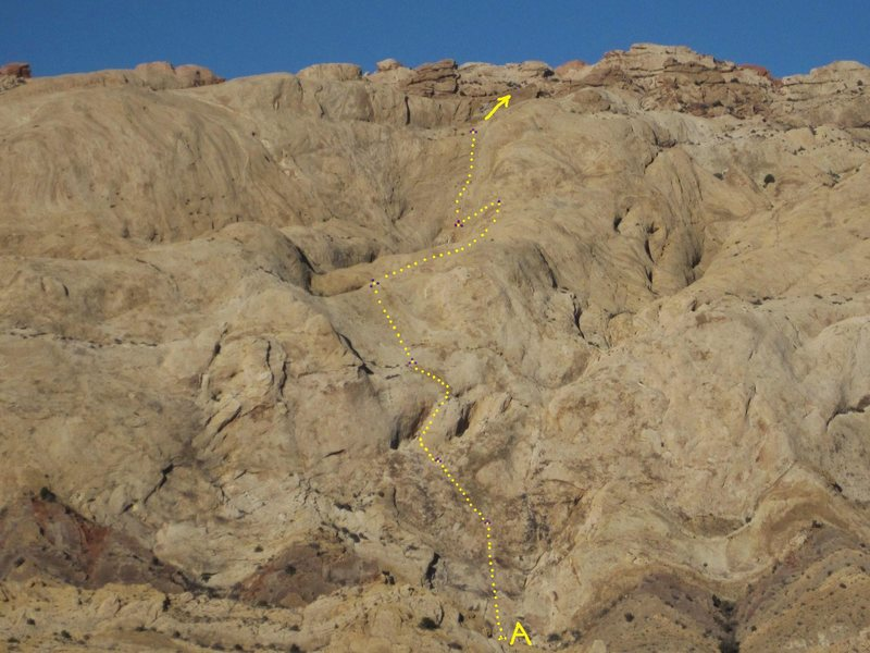 Rock Climbing Photo: A) Crusade. 5.9 .