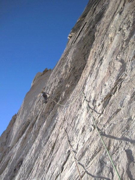 Andy on the crux section