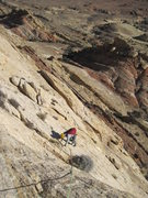 Rock Climbing Photo: Andy top of P3