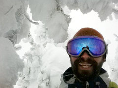 self portrait while skinning up Tuamlo Mountain near Bend, OR.