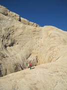 Rock Climbing Photo: Heading up the Great ledge system towards the Holy...