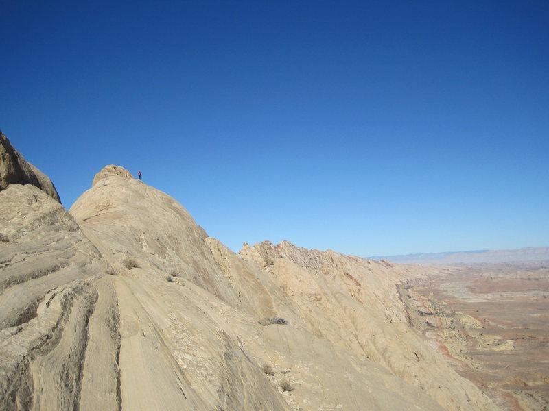 On the summit ridge. Photo A.Ross