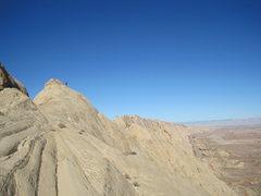 Rock Climbing Photo: On the summit ridge. Photo A.Ross