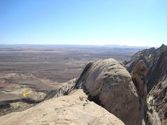 Rock Climbing Photo: Looking down south from the summit ridge. Note tru...