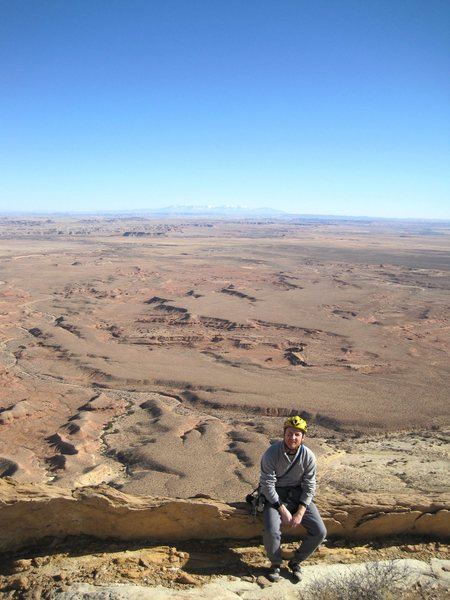 View from the ridge to the La Sal mountains above Moab