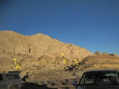 Rock Climbing Photo: Start of the routes from the Two Fingers road end....