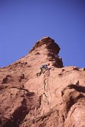 Rock Climbing Photo: Roger Schimmel leading on The Flow