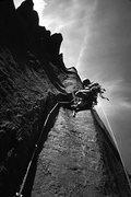 Rock Climbing Photo: Bill Roberts, second asent