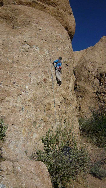 Chris O climbing, photo by Stefan Harms.