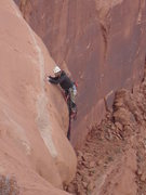 Rock Climbing Photo: Frankie P about to make the final exciting move of...