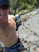 Rock Climbing Photo: me (dark helmet) and my brother on his first outdo...
