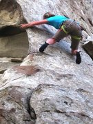 Rock Climbing Photo: LeAnn Jones gettin' to the business of Opuntia