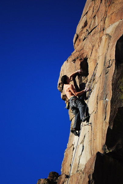 Rock Climbing Photo: My first attempt at the crux.