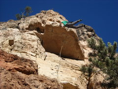Rock Climbing Photo: Zach feet on Number 1 Super Guy.