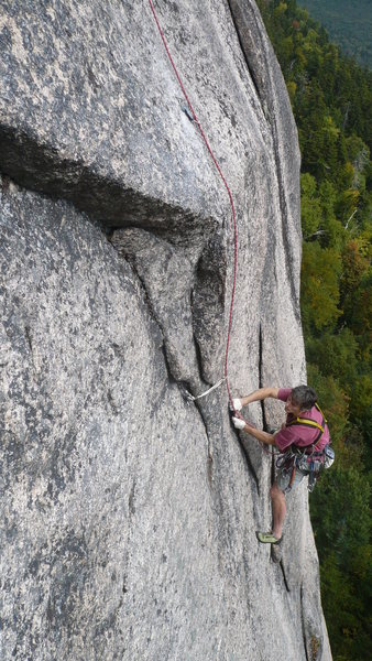 Rock Climbing Photo: Seconding the second pitch of I'm Still Here, a gr...