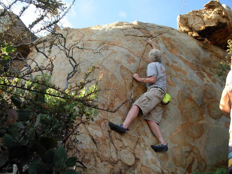 Rock Climbing Photo: Thin tips.