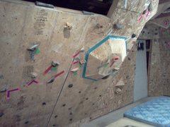 Rock Climbing Photo: My new wall feature. Looks fun.