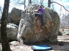 Rock Climbing Photo: heading for the the top out on a beautiful spring ...