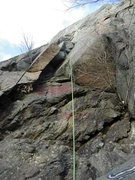 Rock Climbing Photo: View of the bottomless chimney on Fallout, G Wall,...