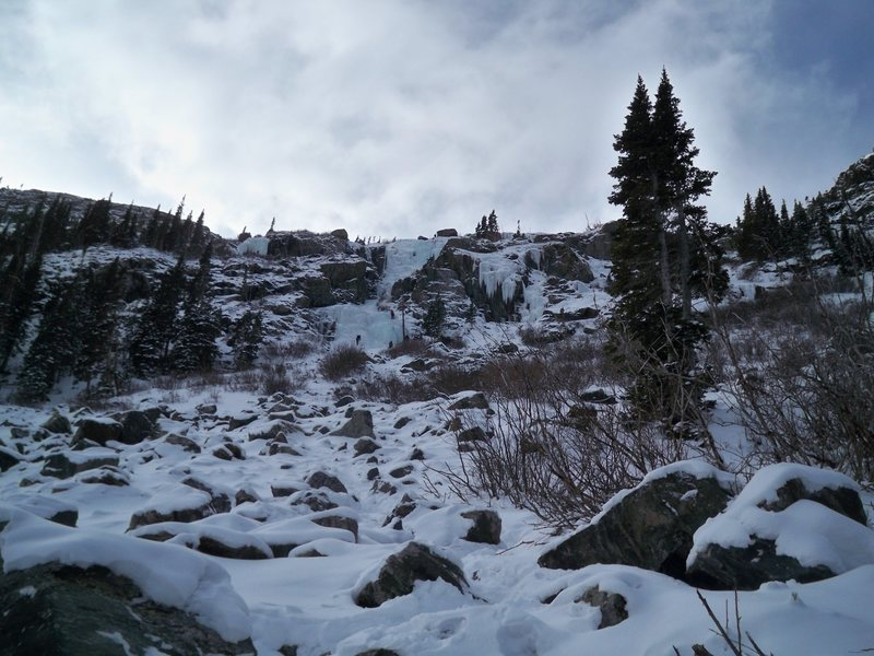 Rock Climbing Photo: Lincoln Falls 4 Dec. 2011, view from just below th...