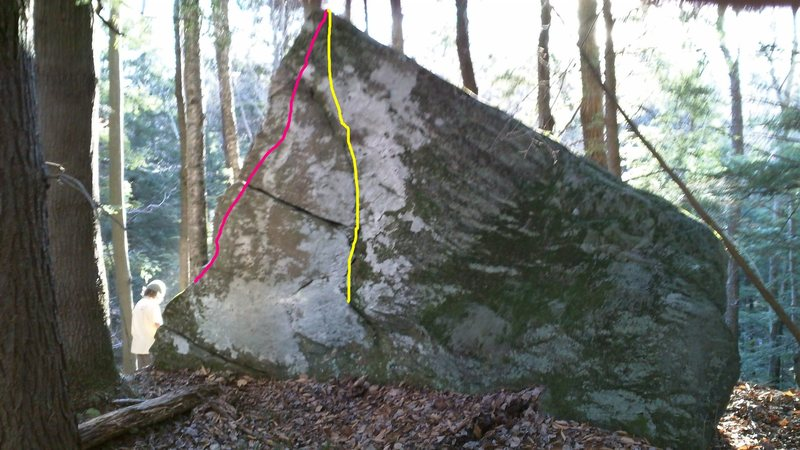 Rock Climbing Photo: Jibs in pink  and Mast-itis in yellow on the north...
