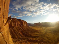 Rock Climbing Photo: at the top before sunset