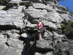 Rock Climbing Photo: Wife leading Pee Break