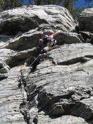 Rock Climbing Photo: Wife leading Pee Break