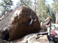 Rock Climbing Photo: Said working in some heel hook beta.