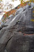 Rock Climbing Photo: Kyle heading into Seventh Seal, fall 2011