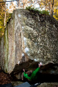 Rock Climbing Photo: a good shot of the whole problem. Owen Mcabe climb...