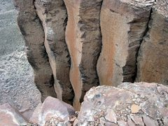 Rock Climbing Photo: Hamhocks is the 3rd crack from the edge.  Photo-Ky...