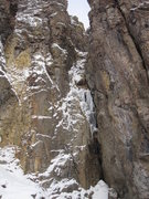 Rock Climbing Photo: The first pitch of the climb.