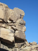 """Rock Climbing Photo: Dave Vaughn pulling over the """"maw"""", hey ..."""
