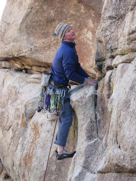 Rock Climbing Photo: Windy November day. Pff, let's go do Norwegian Woo...