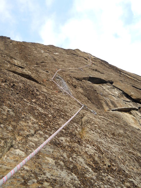 Rock Climbing Photo: 2nd part of Running Free taken from bolted anchor ...
