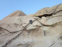 Rock Climbing Photo: Past the crux
