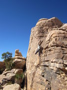 Rock Climbing Photo: Even in December it can be tough in the sun.